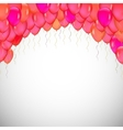 background blue balloons vector image