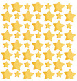 background gold star decoration pattern vector image