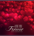 beautiful hearts background for valentines day vector image vector image