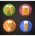 Beer Glass Set Flat icon vector image