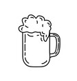 beer icon doddle hand drawn or black outline icon vector image