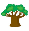 big green tree on white background vector image vector image