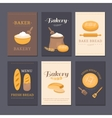 cards shop bakery vector image vector image