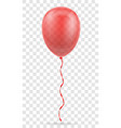 celebratory red transparent balloon pumped helium vector image vector image