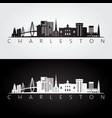 Charleston usa skyline and landmarks silhouette