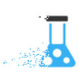 chemistry disappearing pixel icon vector image vector image