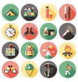Climber Long Shadow Flat Icons Set