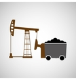 coal mining industry design vector image