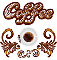 coffee icon or logo for cafeteria or menu vector image