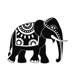 Decorated elephant icon simple style vector image