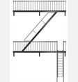 drawing of the fire escape for the facade vector image vector image