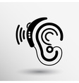 Ear icon hearing aid ear listen sound graphics vector image vector image