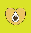 flat shading style icon heart with a cross vector image vector image