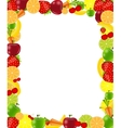 Fruit frame vector image vector image