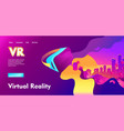 futuristic horizontal banner virtual reality vector image vector image