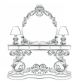 Glamorous Fabulous Baroque Rococo table vector image vector image
