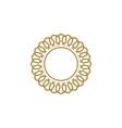 gold frame flower logo template design eps 10