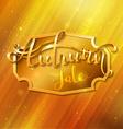 Golden autumn background vector image