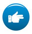 hand forward icon blue vector image vector image