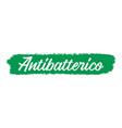 hand sketched antibacterial quote in italian vector image vector image