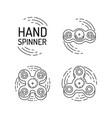hand spinner vector image