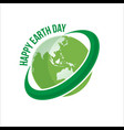 happy earth day logo vector image vector image