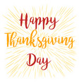 happy thanksgiving banner on stripped background vector image vector image