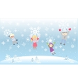 Kids Children Playiong Snow flakes Snowflakes
