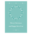 light green greeting card for christmas - leaflet vector image vector image