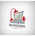 logging writing freelance it logo vector image vector image