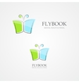 logo combination a book and butterfly vector image vector image