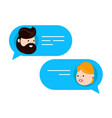 man chatting with woman flat vector image
