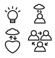 meditation icon set vector image vector image