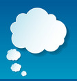 New cloud thoughts vector image vector image