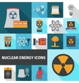 Nuclear energy icons set flat vector image vector image