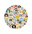 people head icons in circle vector image