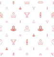 place icons pattern seamless white background vector image vector image