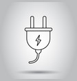 plug socket icon in line style on isolated vector image vector image