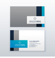 professional gray and blue business card design vector image vector image