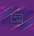 purple geometric dynamic shapes composition vector image
