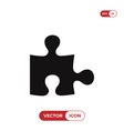 puzzle icon vector image