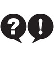 question mark and exclamation point icon black vector image vector image