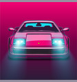 retro sports car 80s eighties neon glow