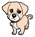 sad puppy vector image