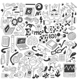 Science - doodles collection vector image vector image