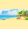 sea panorama bay tropical beach background vector image