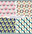 set of four seamless geometrical patterns 6 vector image