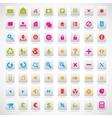 set of icons pink green yellow vector image