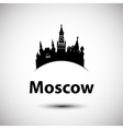 silhouette of Moscow vector image vector image