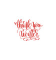 thank you winter hand lettering holiday vector image